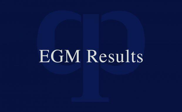 Results of EGM